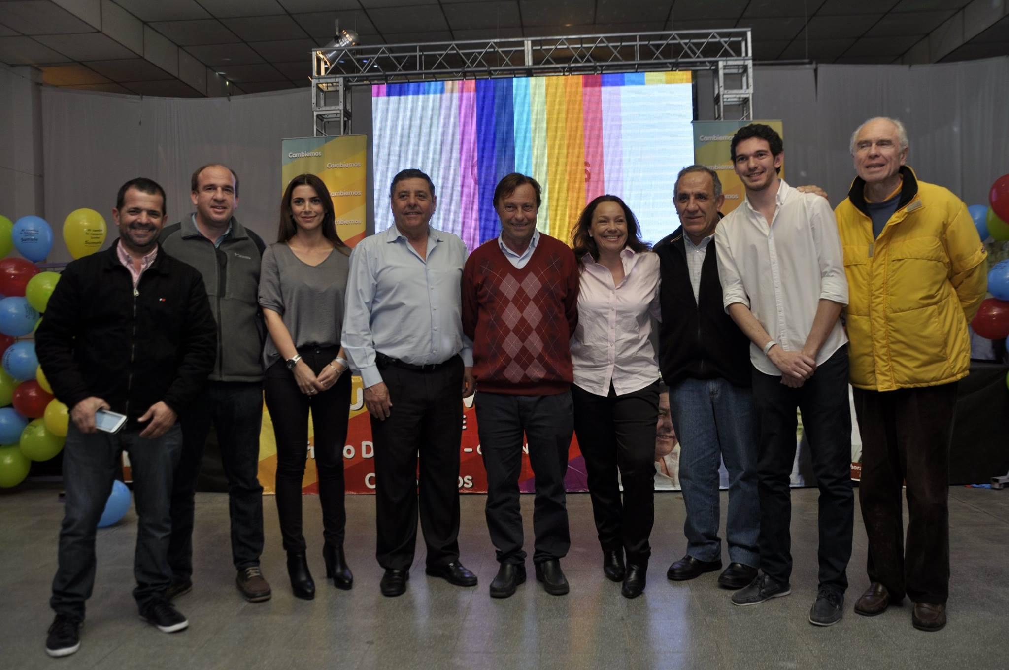 De  Ángeli celebró el acto eleccionario junto al resto de los precandidatos (Foto APFDigital)