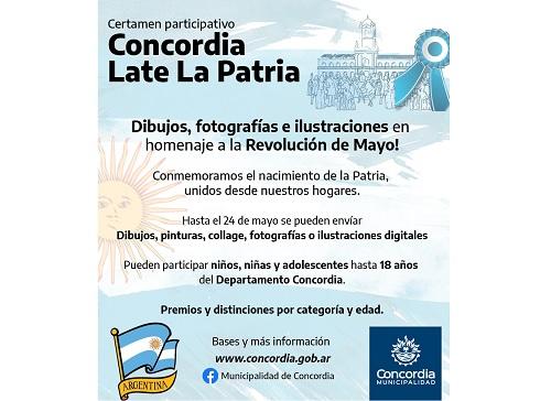 La Municipalidad de Concordia invita a conmemorar de celeste y ...